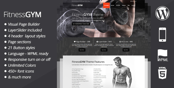 fitnessgym theme review